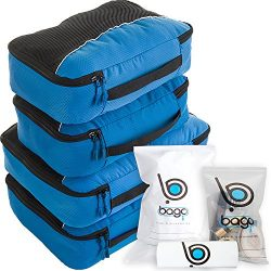 Bago Packing Cubes For Travel Bags – Luggage Organizer 10pcs Set (Blue)