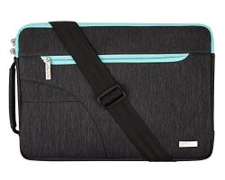 Mosiso Polyester Fabric Sleeve Case Cover Laptop Shoulder Briefcase Bag for 14-15 Inch Notebook, ...