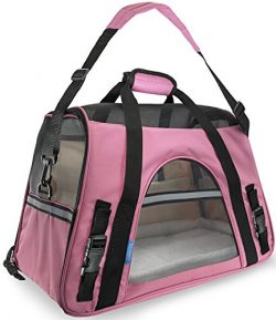Paws & Pals Airline Approved Pet Carriers w/ Fleece Bed For Dog & Cat – Soft Sided ...