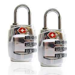 Smartrip TSA Approved Luggage Locks 2 Pack Combination Padlock For School Sturdy Zinc Alloy Gym  ...