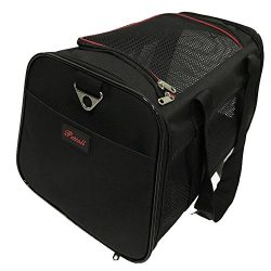 Pet Carrier, PETTALL 17.5 x 11 x 10.5 Inches Large Soft-Sided-Pet-Carrier for Small Dogs Medium  ...