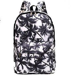Urmiss Graffiti Printed Canvas Casual Backpack Travel Shoulder Bag Students Schoolbag College Ru ...