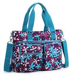 Crest Design Water Repellent Nylon Shoulder Bag Handbag, 14 inch Laptop Bag Notebook Briefcase T ...