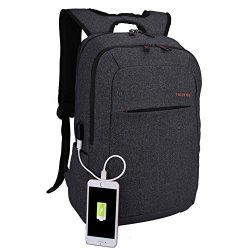 Kopack Laptop Backpack with Usb port charger Slim Business Computer Backpack Anti-theft Water Re ...