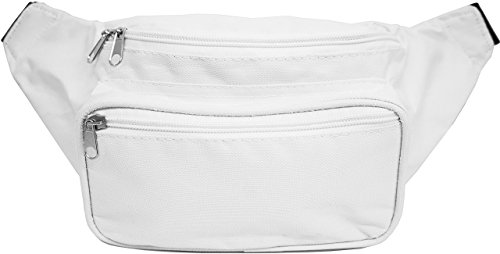 SoJourner Bags Fanny Pack – Classic Solid Bright Colors (white)