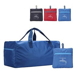 Folding Duffel Bag 22″ FARADAY 55L Lightweight with Water Resistant (Blue)
