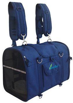 Natuvalle 6-in-1 STURDY Pet Carrier Backpack, Front Pack, Shoulder Bag, Pet Hand Bag, Soft Sided ...