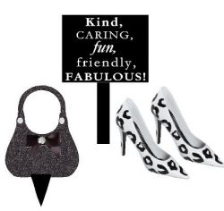 Ladies Mini Miniature Stilettos Shoes Bag & Sign Toy Cake and Cupcake Decoration Topper (Leo ...