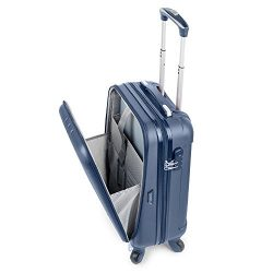 "TravelCross Victoria Lightweight Hardshell Spinner Luggage (Dark Blue, 20"" carry-on)"