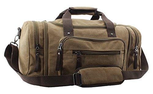 Jiao Miao Oversized Handbag Canvas Travel Tote Luggage Weekender Duffel Bag,170804-04