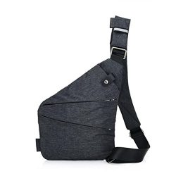 Mens Chest Bags,Toponly Mens Chest Bags Canvas Travel Crossbody Messenger Bag (Fashion B Gary)