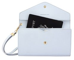 Krosslon Rfid Travel Passport Wallet Holder Tri-fold Document Wristlet Organiser Bag (3# Paradis ...