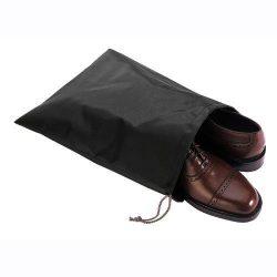 FashionBoutique waterproof Nylon shoe bags- Set of 4 travel friends (Black)
