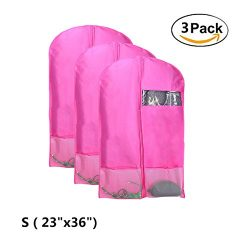 Kernorv Breathable Dust-proof Garment Bag, 36″ Foldable Dance Garment Bags with Clear Wind ...