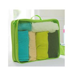 Romwell large packing cubes luggage packing organizers for week trip 1pcs (Large, green)