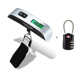 [Backlit Version] ELECLOVER Digital Hanging Postal Luggage Scale with a TSA Accepted Travel Lock ...