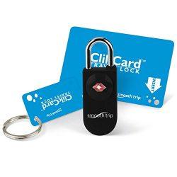 Smooth Trip TSA Approved ClikCard Luggage Lock (Black)