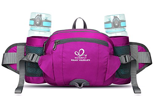 ce7d33db2968 WATERFLY Fanny Pack with Water Bottle Holder Hiking Waist Pack Bag Running  Belt Outdoor Sport Lu
