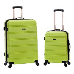 Rockland Luggage 20 Inch and 28 Inch 2 Piece Expandable Spinner Set, Lime