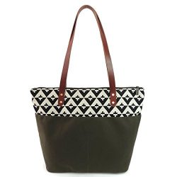 Travel Tote Bag in Hudson and Olive Canvas by Spicer Bags