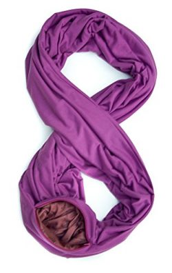 TRAVEL SCARF by WAYPOINT GOODS // Infinity Scarf with Hidden Pocket (Orchid)