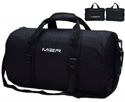 MIER Foldable Small Duffel Bag Lightweight for Sports, Gyms, Yoga, Travel, Overnight, Weekender, ...