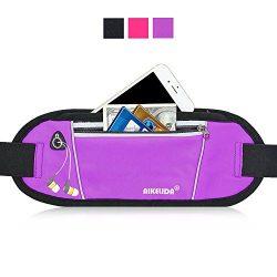 AIKELIDA Running Belt/Fanny Pack/Fitness Belt/Waist Pack for iPhone, Samsung Edge/Note/Galaxy &# ...