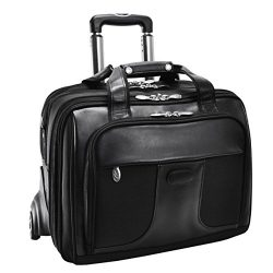 McKleinUSA CHICAGO 73585 Black 17 Detachable-Wheeled Laptop Overnight with Removable Brief