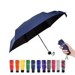 Travel Compact Umbrella Extra Light Mini Parasol Sunblock and Anti-Rain UPF50+ – Fits Men  ...