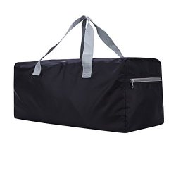 Foldable Duffel Bag FARADAY 30″ Lightweight with Water Rresistant for Travel (Black)