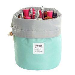 Travel Cosmetic Bags Barrel Makeup Bag,Women &Girls Portable Cosmetic Cases,Euow Multifuncti ...