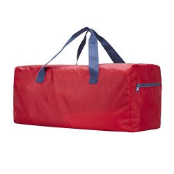 Foldable Duffel Bag 22″ FARADAY 55L Lightweight with Water Resistant (Red)