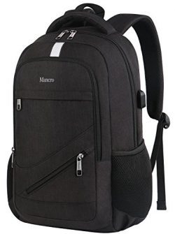 Laptop Backpack 15.6, Anti Theft Business Travel Computer Bag for Women Men, Water Resistant Pol ...