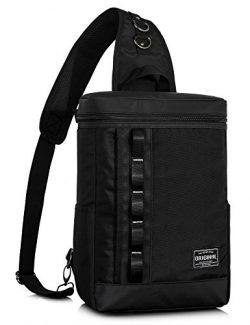 Leaper Water-Resistant Messenger Bag Outdoor Cross Body Bag Sling Bag Shoulder Bag (Large, Black3)