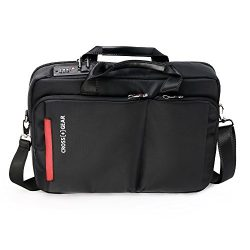 CrossGear Briefcase with Combination Lock Anti Theft Business Office Bag Laptop Sleeve case ,for ...
