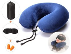 Ultra-Comfortable Travel Pillow, U-Shaped Neck Pillow, Eco Memory Foam and Super Soft Cover, wit ...