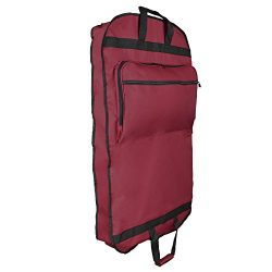 DALIX 39″ Garment Bag Cover for Suits and Dresses Clothing Foldable w Pockets in Maroon