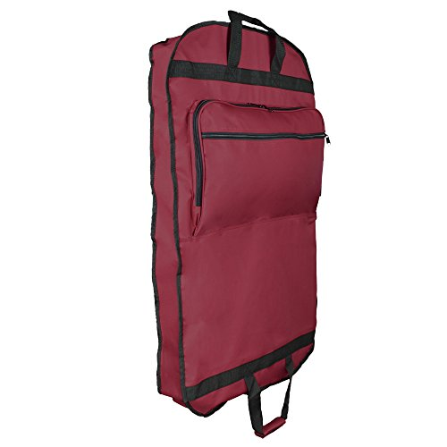 bcafa4ddd8 DALIX 39″ Garment Bag Cover for Suits and Dresses Clothing Foldable w  Pockets in Maroon