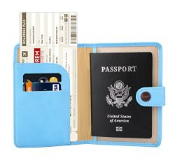 Zoppen Rfid Blocking Travel Passport Holder Cover Slim Id Card Case, #20 Paradise Blue