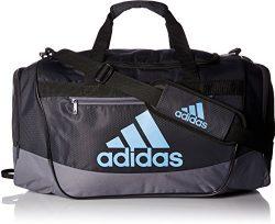adidas Defender III Duffel Bag, Night Grey/Onix/Collegiate Light Blue, Medium