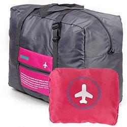 Travel Bag Lightweight Duffel Gym Bag Waterproof Foldable Portable Luggage Bag Men Women (32L, Rose)