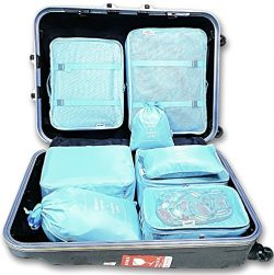 8 Set Travel organizers Packing Сubes Luggage Accessories Сlothes Shoes Bag (Blue)