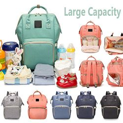 Reliancer Large Capacity Diaper Bag for Baby Care Multi-Function Waterproof Travel Nappy Bags Ba ...