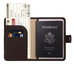 Zoppen Rfid Blocking Travel Passport Holder Cover Slim Id Card Case, #10 Brown