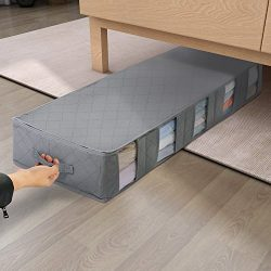 Lifewit Large Capacity Under Bed Storage Bag with 5 Clear Window for Clothing, Shoes, Blankets,  ...