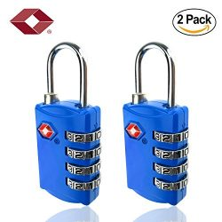 TSA Lock – 4 Digit Combination – Best TSA Approved Lock For Travel Safety and Securi ...