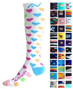 Compression Socks (1 pair) for Women & Men – Best Graduated Athletic Fit for Running,  ...