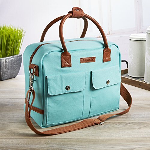 Fit Amp Fresh Margene Messenger Style Lunch Bag For Women Insulated Tote For Travel Work School