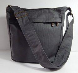Virine grey cross body bag, messenger bag, everyday bag, shoulder bag, handbag, travel bag, wome ...