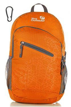 Outlander Packable Handy Lightweight Travel Hiking Backpack Daypack-Orange-L